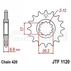 Zębatka przednia JT F1120-11, 11Z, rozmiar 420 2201083 Aprilia RX 50, Peugeot XPS 50