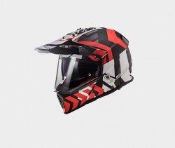KASK LS2 MX436 PIONEER XTREME MATT BLACK RED