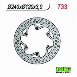 NG733 TARCZA HAMULCOWA HUSQVARNA CR/WR 125/250/360 (87-91), TE 350 (89-91), TC/TE 610 (91) (240X120X3)