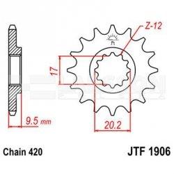 Zębatka przednia JT F1906-14, 14Z, rozmiar 420 2201011 KTM SX 65