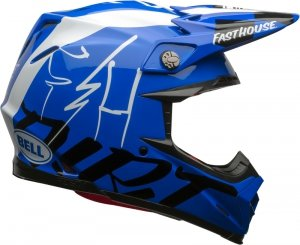 BELL KASK MOTO-9 FLEX FASTHOUSE DID GLOSS BLUE/WHI