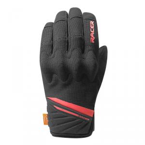 RACER RĘKAWICE MOTO TEKSTYLNE  ROCA 2 BLACK/RED