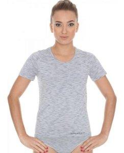 Brubeck SS11570 Koszulka damska z krótkim rękawem FUSION popielaty
