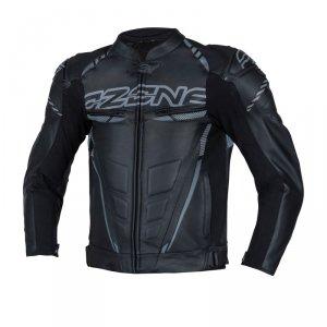 OZONE KURTKA SKÓRZANA RS600 BLACK/GREY