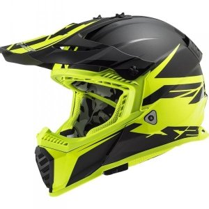 KASK LS2 MX437 FAST EVO ROAR BLACK H-V YELLOW