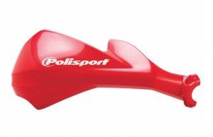 Komplet osłon kierownicy Polisport Sharp [czerwony]