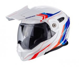 SCORPION KASK ADX-1 ANIMA WHITE-RED-BLUE