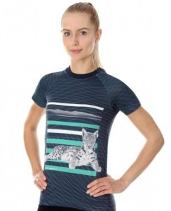 Brubeck SS13230  Koszulka damska City Air grafitowy - Kot