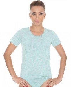 Brubeck SS11570 Koszulka damska z krótkim rękawem FUSION jasnozielony