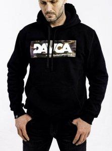 DAVCA Bluza codzienna z kapturem camo logo