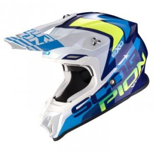 SCORPION KASK OFF-ROAD VX-16 AIR NATION BLUE-WH FL