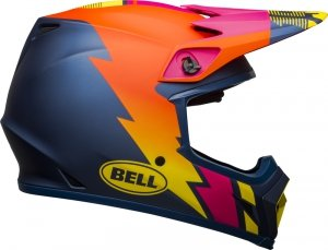 BELL KASK OFF-ROAD MX-9 MIPS STRIKE MATTE BL/OR/PI