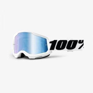 100 PROCENT GOGLE MODEL STRATA 2 EVERE MIRROR BLUE