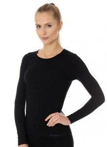 Brubeck LS00900 Koszulka damska z długim rękawem czarny