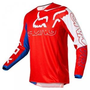 FOX BLUZA OFF-ROAD 180 SKEW WHITE/RED/BLUE