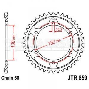 Zębatka tylna stalowa JT 859-46, 46Z, rozmiar 530 2302007 Yamaha YZF 600