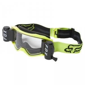 FOX GOGLE VUE STRAY ROLL OFF BLACK/YELLOW  CLEAR