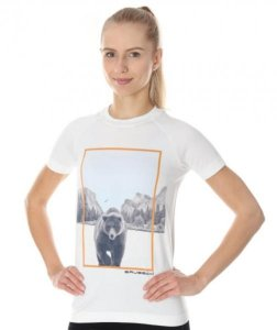 Brubeck SS13230 Koszulka damska City Air Biały - Niedźwiedź