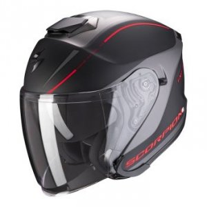 SCORPION KASK INTEGRALNY EXO-S1 SHADOW MATT BL-RED
