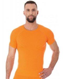 Brubeck SS11710 Koszulka męska z krótkim rękawem ACTIVE WOOL pomarańczowy