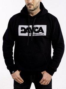 DAVCA Bluza codzienna z kapturem odblask logo