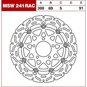 TRW Tarcza hamulcowa MSW241RAC SUZUKI GSX-R 600 75