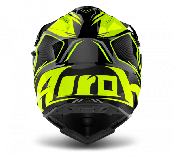 AIROH KASK INTEGRALNY COMMANDER CARBON YELLOW GLO