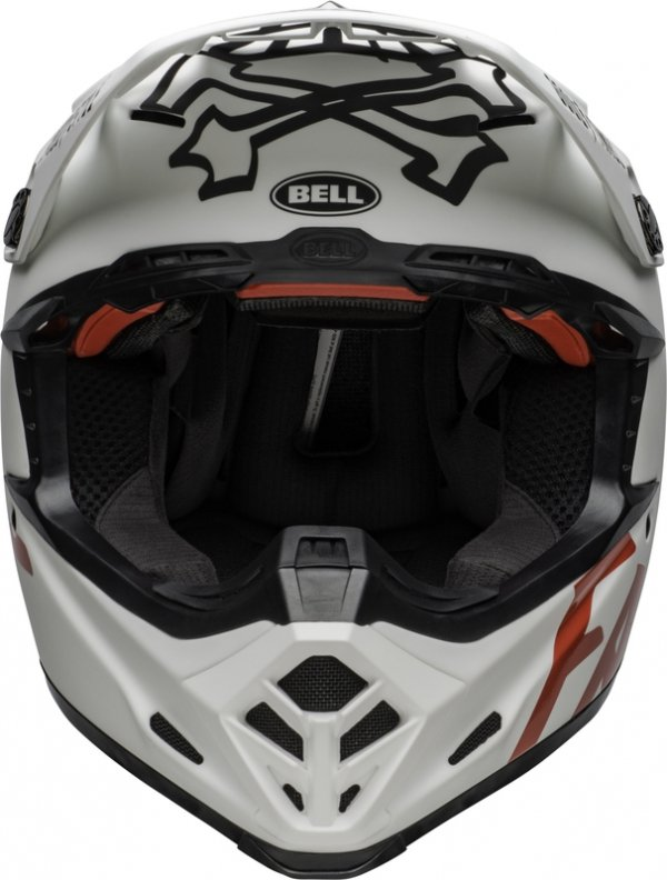 BELL KASK CROSS MOTO-9 FLEX FASTHOUSE  WH/BLACK/RE