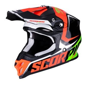 SCORPION KASK CROSS VX-16 AIR ERNEE BK-NEON RED-G