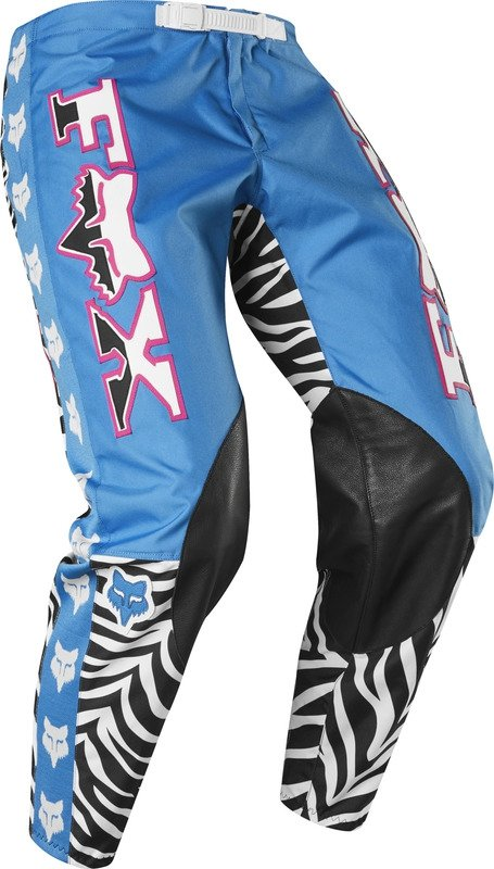FOX SPODNIE OFF-ROAD 360 RETRO ZEBRA CYAN