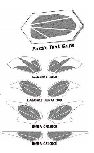 KEITI TANK PAD/TANK GRIPS  PAZZLE CLEAR KP471C