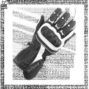 1a4bcaff36eb05 Rękawice motocyklowe damskie BUSE czarno-białe - Rękawice - DLA KOBIET