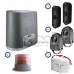 Zestaw Somfy Elixo 500 3S RTS 24V Comfort Pack (2 piloty 4-kanałowe Keygo, lampa, fotokomórki, akumulator)