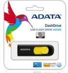 Adata pamięć USB DashDrive UV128 32GB USB 3.0 Czarny+Yellow