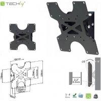 Uchwyt ścienny Techly LCD/LED 17-37 slim, czarny