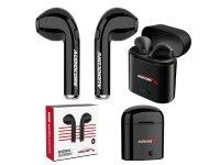 Słuchawki z mikrofonem Audiocore AC520 B bliźniacze douszne Bluetooth + stacja/Powerbank czarne TWS 5.0