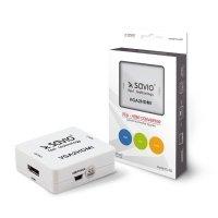 Adapter/Konwerter VGA (F)+minijack(F) do HDMI A/F Full HD/1080p 60Hz