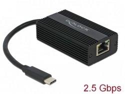 Karta sieciowa Delock USB-C 3.1- RJ-45 2.5Gb na kablu