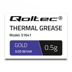 Qoltec Pasta termoprzewodząca 3.05 W/m-K | 0,5g | złota