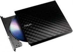 ASUS nagrywarka zewnętrzna SDRW-08D2S, 8x, USB 2.0, slim, czarna, retail