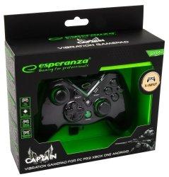 ESPERANZA EGG111K CAPTAIN - GAMEPAD Z WIBRACJAMI DLA PC/PS3/XBOX ONE/ANDROID USB