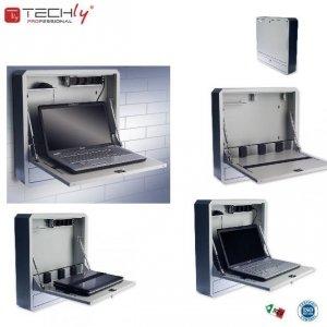 Szafka przeciw kradzieżowa TechlyPro ICRLIM01 do notebooka (do 19) ścienna, szara