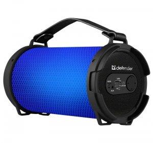 Głośnik Defender REACTOR Bluetooth 8W MP3/FM/SD/USB/AUX/LED podświetlany czarny