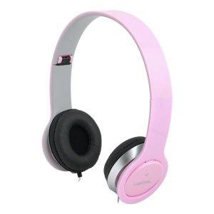 Słuchawki z mikrofonem LogiLink HS0032 stereo HQ, różowe