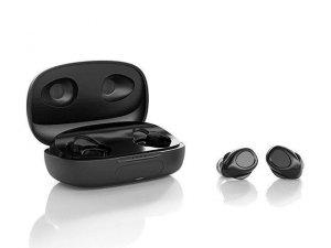 Słuchawki z mikrofonem Natec SOHO TWS bezprzewodowe dokanałowe czarne