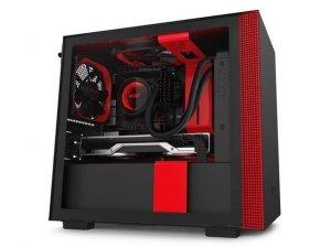 Obudowa NZXT H210I Mini Tower czarno-czerwona z oknem