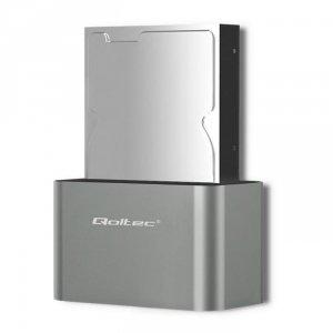 Stacja dokująca Qoltec dysków HDD/SSD | 2.5 / 3.5 SATA | USB 3.0