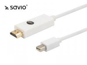 Kabel mini DP - HDMI Savio CL-84 3m
