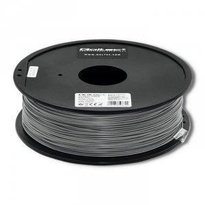 Filament Qoltec do druku 3D | ABS PRO | 1,75mm | 1kg | Silver