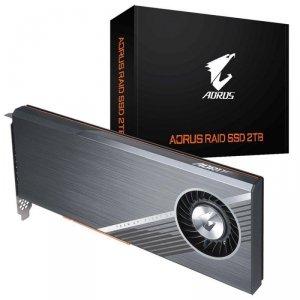 Dysk SSD Gigabyte AORUS RAID SSD 2TB PCI-Express 3.0x8 (6300/6000 MB/s) 3D TLC
